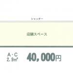 【ちゅうぎん通り1階】交通量多しJR小倉駅徒歩約2分空き店舗/小倉北区魚町(間取)