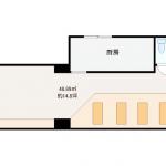 【居抜き】テーブル・座敷席・造作あり/小倉南区北方(元イタリアン料理店居抜き)