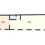 【新築店舗・飲食店相談可能】天井高2.5mスケルトン・通り沿い1階空き店舗/小倉北区下到津
