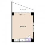 バス通り沿い【1階空き店舗】電動シャッターつき/小倉北区足原テナント